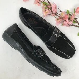 Sesto Meucci Black Leather Womens Loafers 8 N